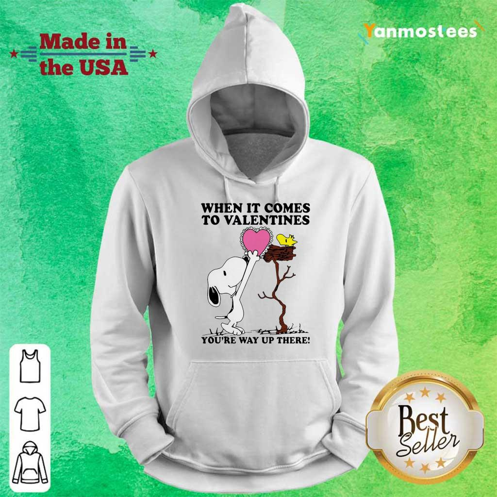 Great Snoopy And Woodstock Comes To Valentines 1 Hoodie