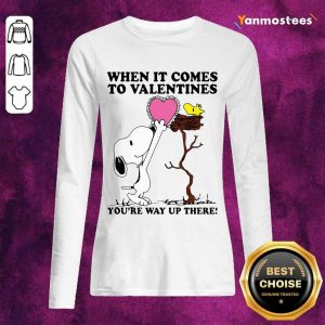 Great Snoopy And Woodstock Comes To Valentines 1 Long-Sleeved