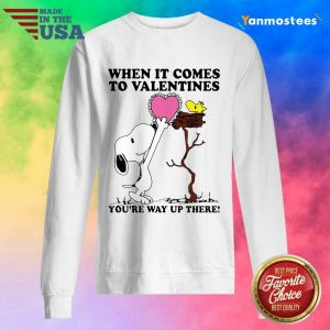 Great Snoopy And Woodstock Comes To Valentines 1 Sweater
