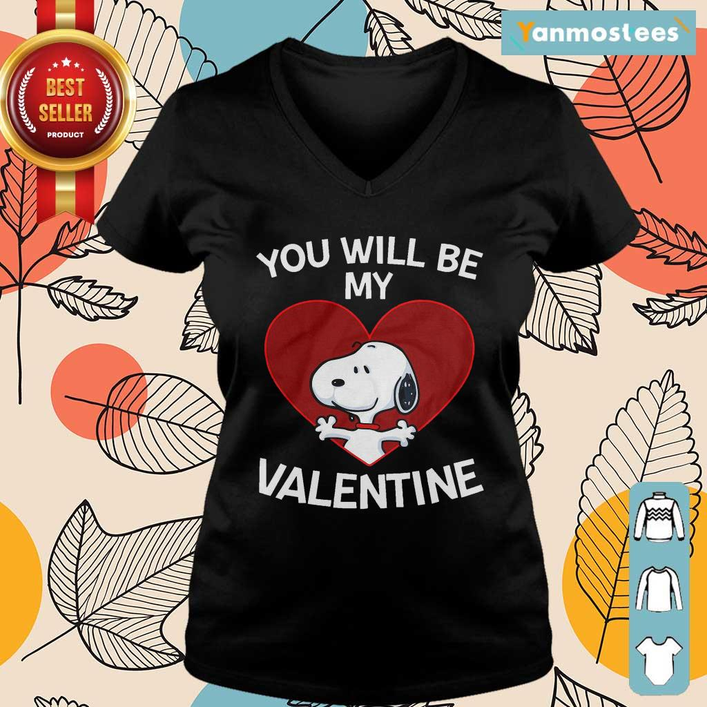 Happy Snoopy You Will Be My Valentine 1 Ladies Tee