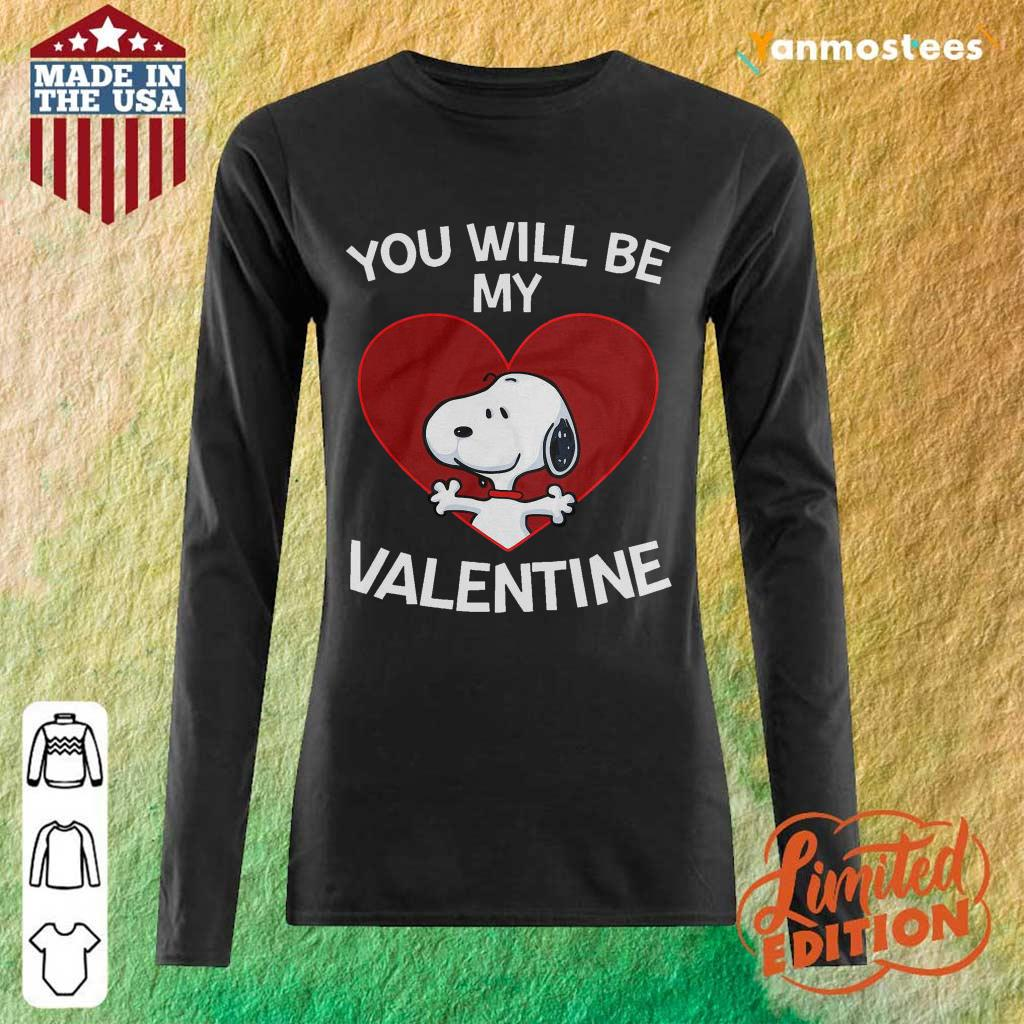Happy Snoopy You Will Be My Valentine 1 Long-Sleeved