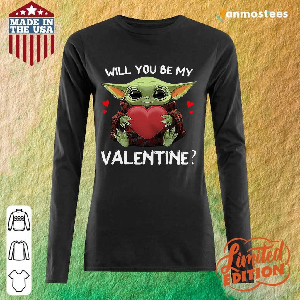 Keen Baby Yoda Hug Heart My Valentine 1 Long-Sleeved