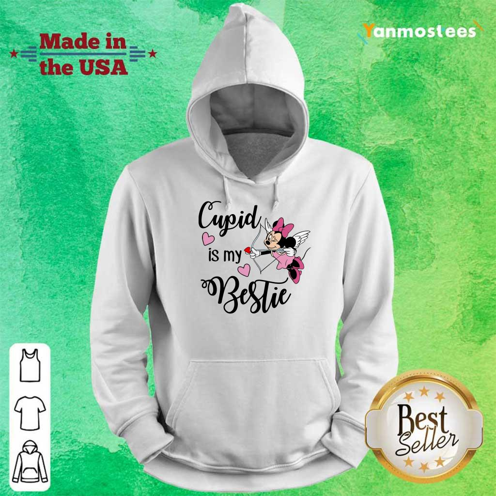 Positive Minnie Mouse Cupid Is My Bestie 3 Hoodie