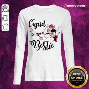Positive Minnie Mouse Cupid Is My Bestie 3 Long-Sleeved