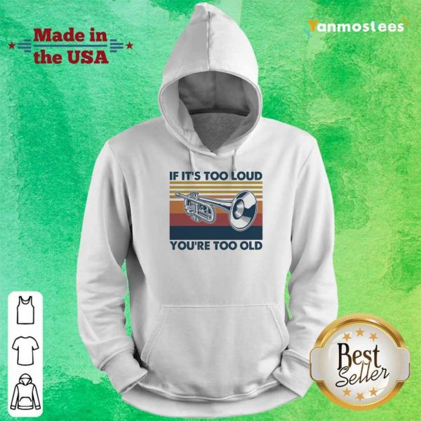 Amused 1 Too Old Vintage Hoodie