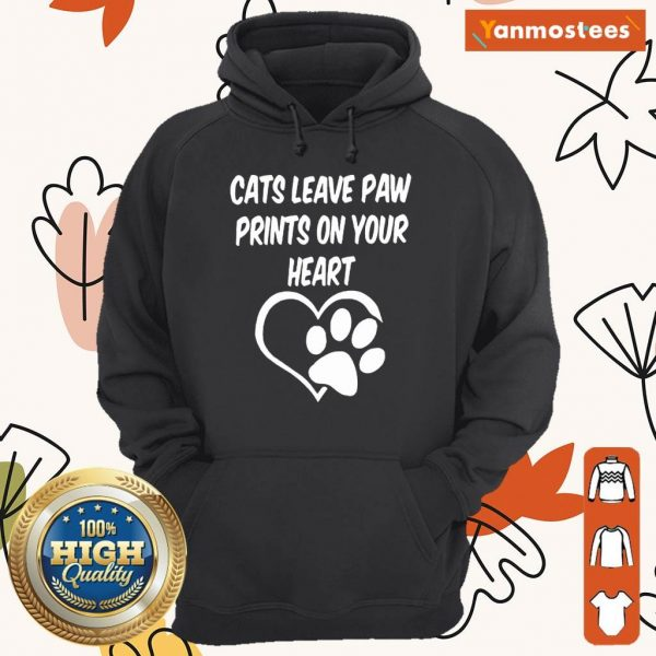 Confident Cats Leave Paw Heart 2021 Hoodie