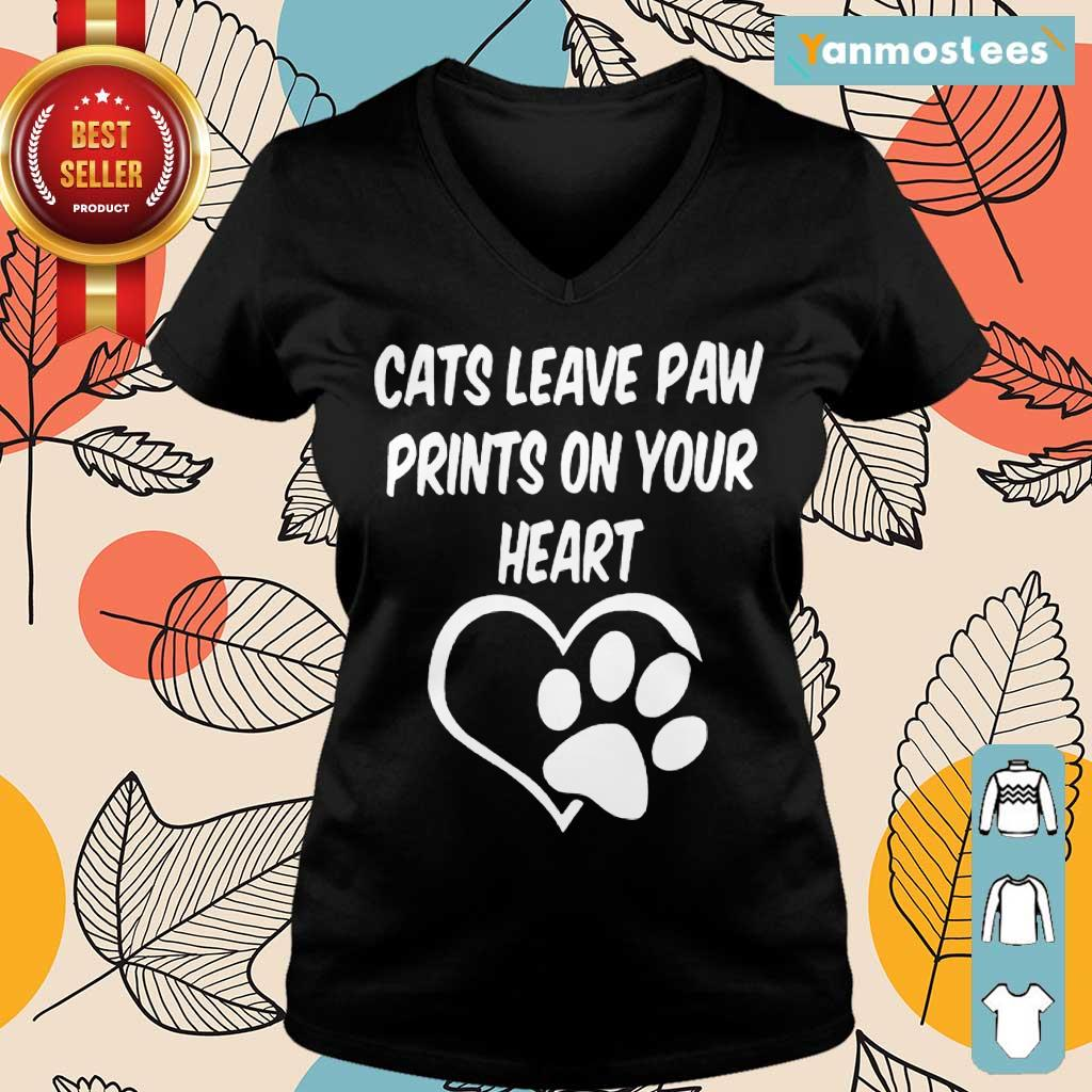 Confident Cats Leave Paw Heart 2021 Ladies Tee