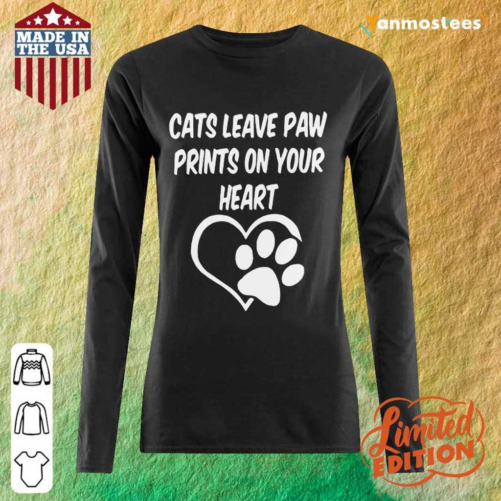 Confident Cats Leave Paw Heart 2021 Long-Sleeved