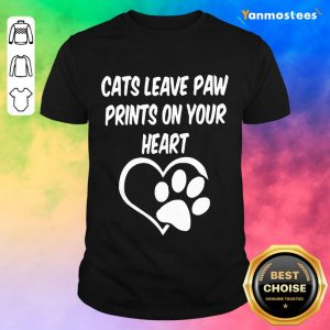 Confident Cats Leave Paw Heart 2021 Shirt