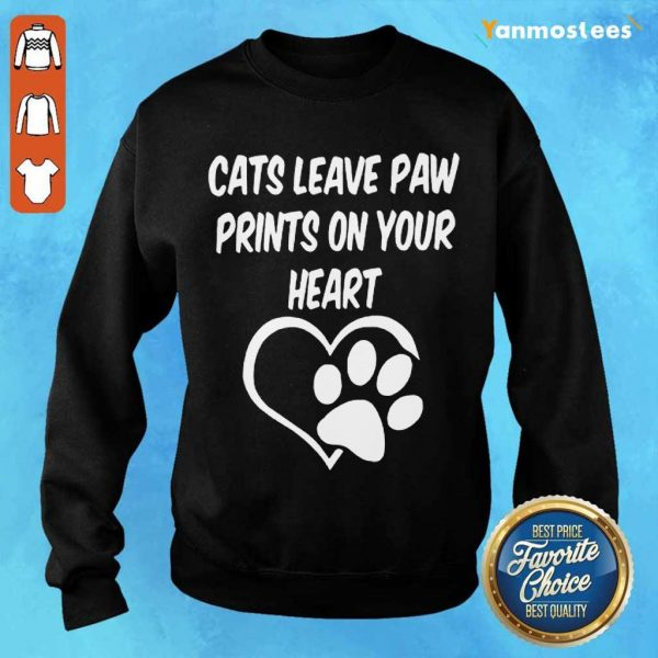 Confident Cats Leave Paw Heart 2021 Sweater