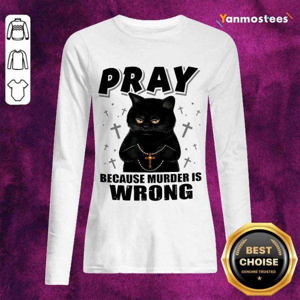 Delighted Black Cat Pray 2021 Long-Sleeved