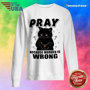Delighted Black Cat Pray 2021 Sweater