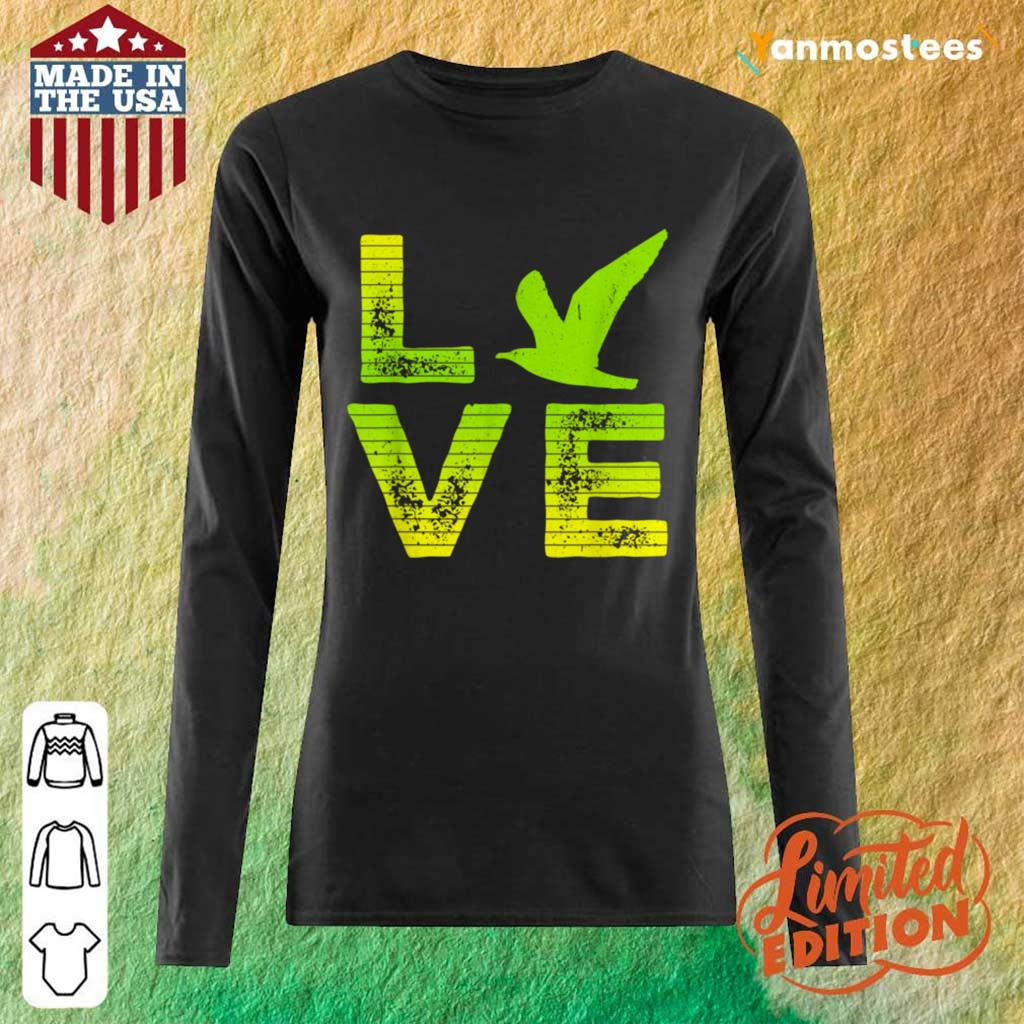 Excited I Love Seagulls Birds 2 Long-Sleeved