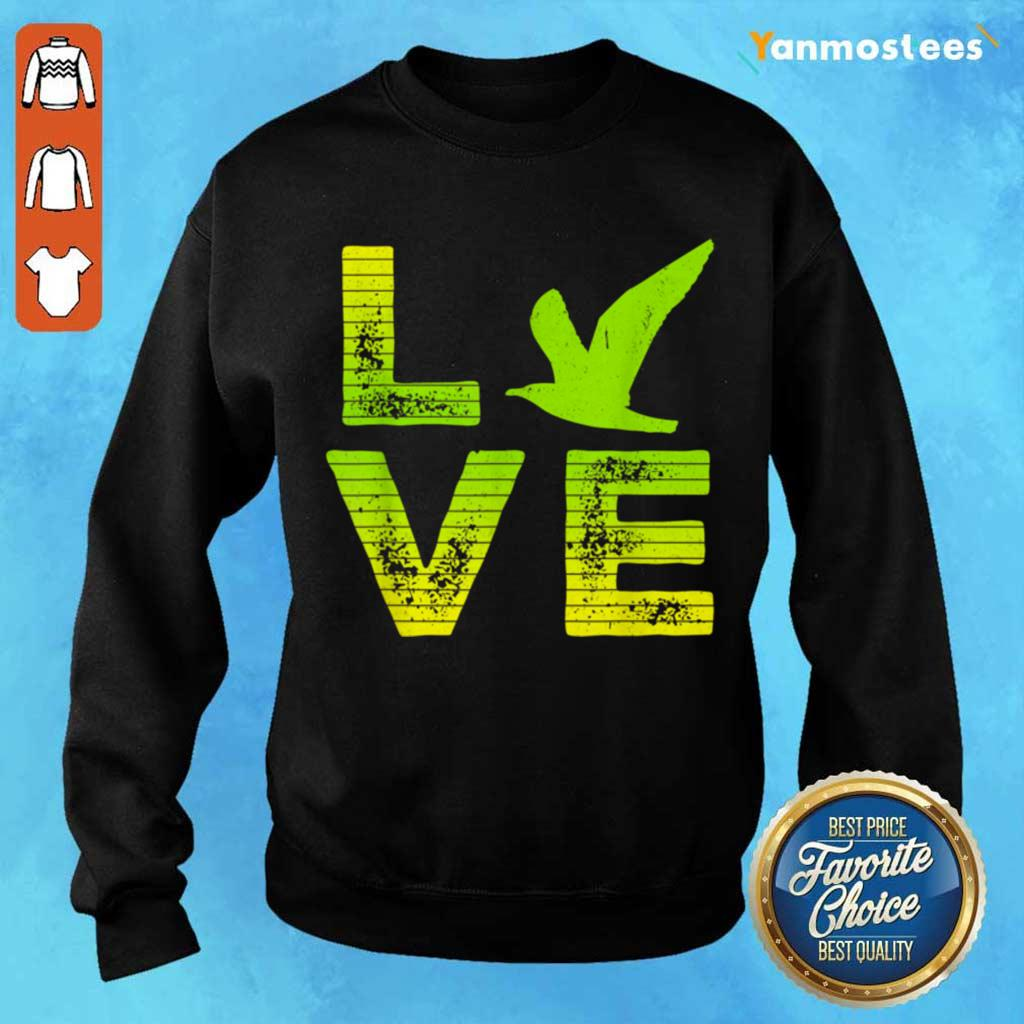 Excited I Love Seagulls Birds 2 Sweater