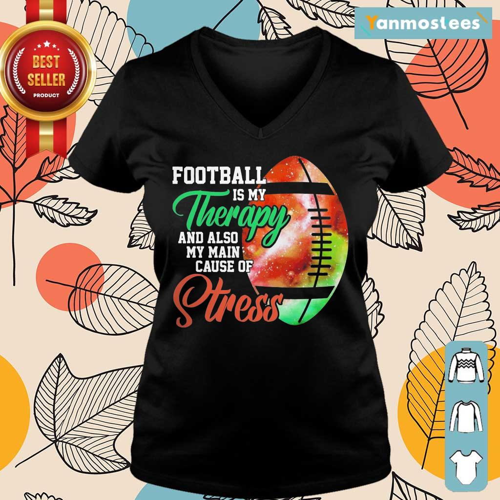 Football Is My Therapy Great 1 Ladies Tee