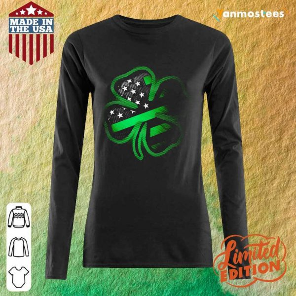 Great 1 Firefighter St Patricks Day Long-Sleeved