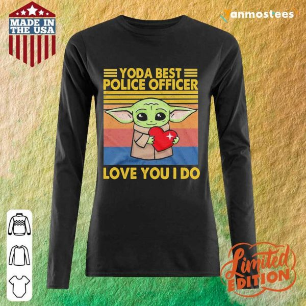 Great Baby Yoda Best Police 2021 Long-Sleeved