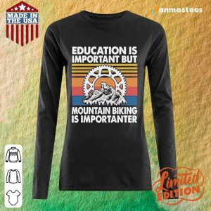 Great Mountain Biking Is Vintage 1 Long-Sleeved