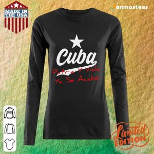 Happy Cuba Vida Cuba Patria 2 Long-Sleeved