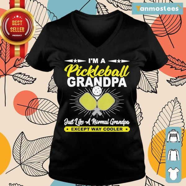 Happy Pickleball Grandpa Grandpa Ladies Tee