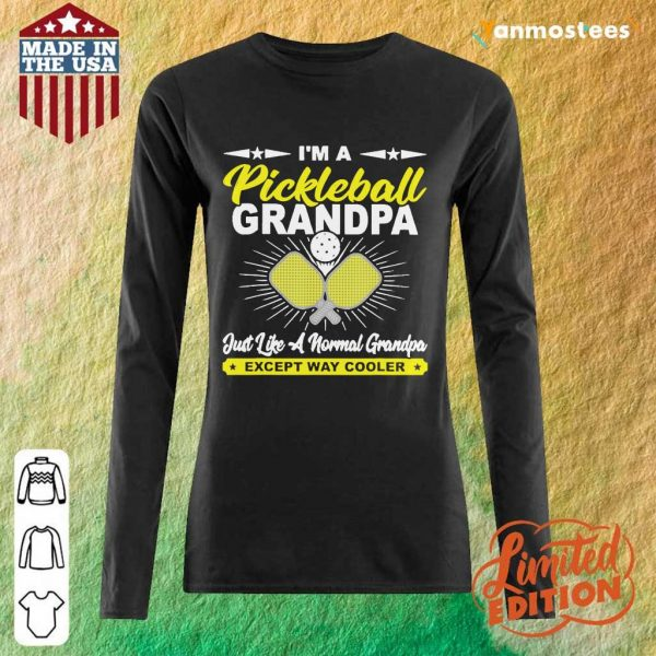 Happy Pickleball Grandpa Grandpa Long-Sleeved