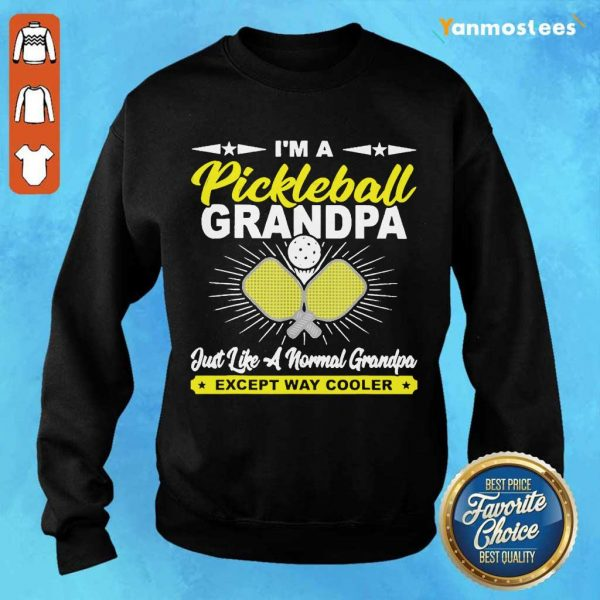 Happy Pickleball Grandpa Grandpa Sweater