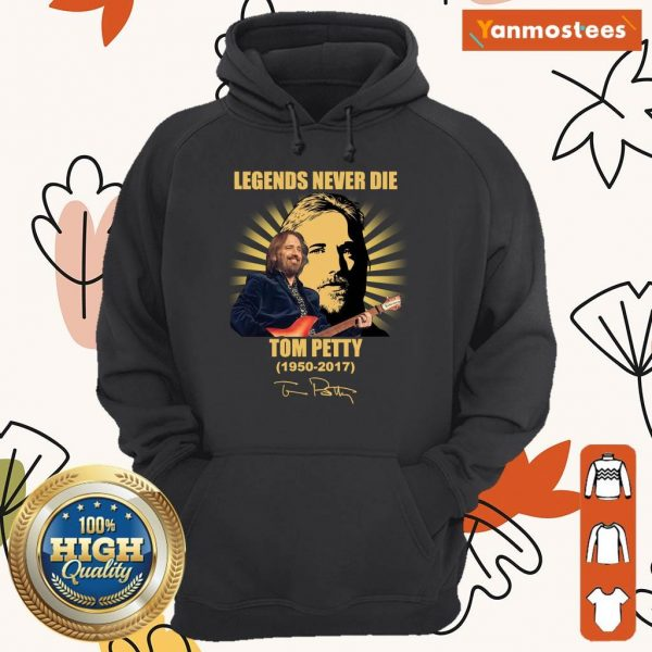 Over The Moon Tom Petty Signature 1 Hoodie