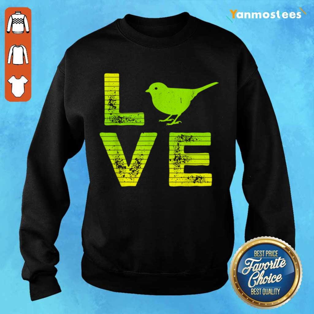 Overjoyed 6 I Love Sparrows Sweater