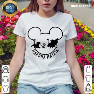 Overjoyed Hakuna Matata Lion Disney Ladies Tee
