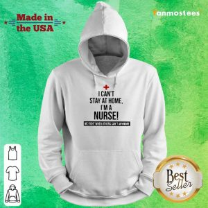 Overjoyed Stay At Home A Nurse 2021 Hoodie