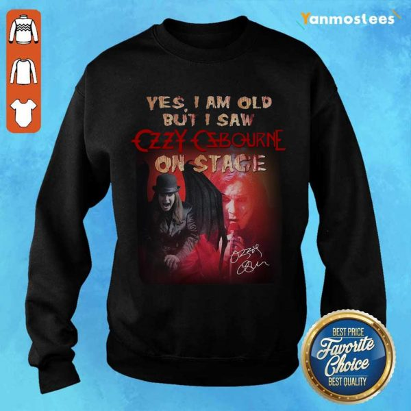 Relaxed Ozzy Osbourne Signature 2021 Sweater