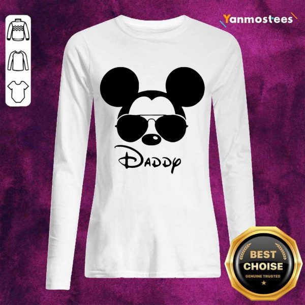 Surprised Disney Mickey Mouse Daddy Long-Sleeved