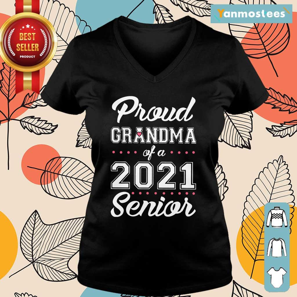 Surprised Proud Grandma Of A 2021 Senior Ladies Tee
