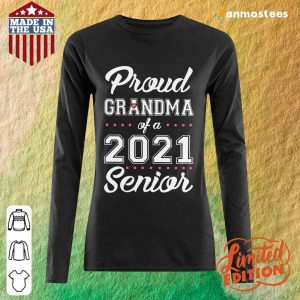 Surprised Proud Grandma Of A 2021 Senior Long-Sleeved