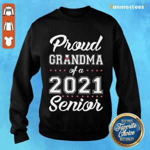 Surprised Proud Grandma Of A 2021 Senior Sweater