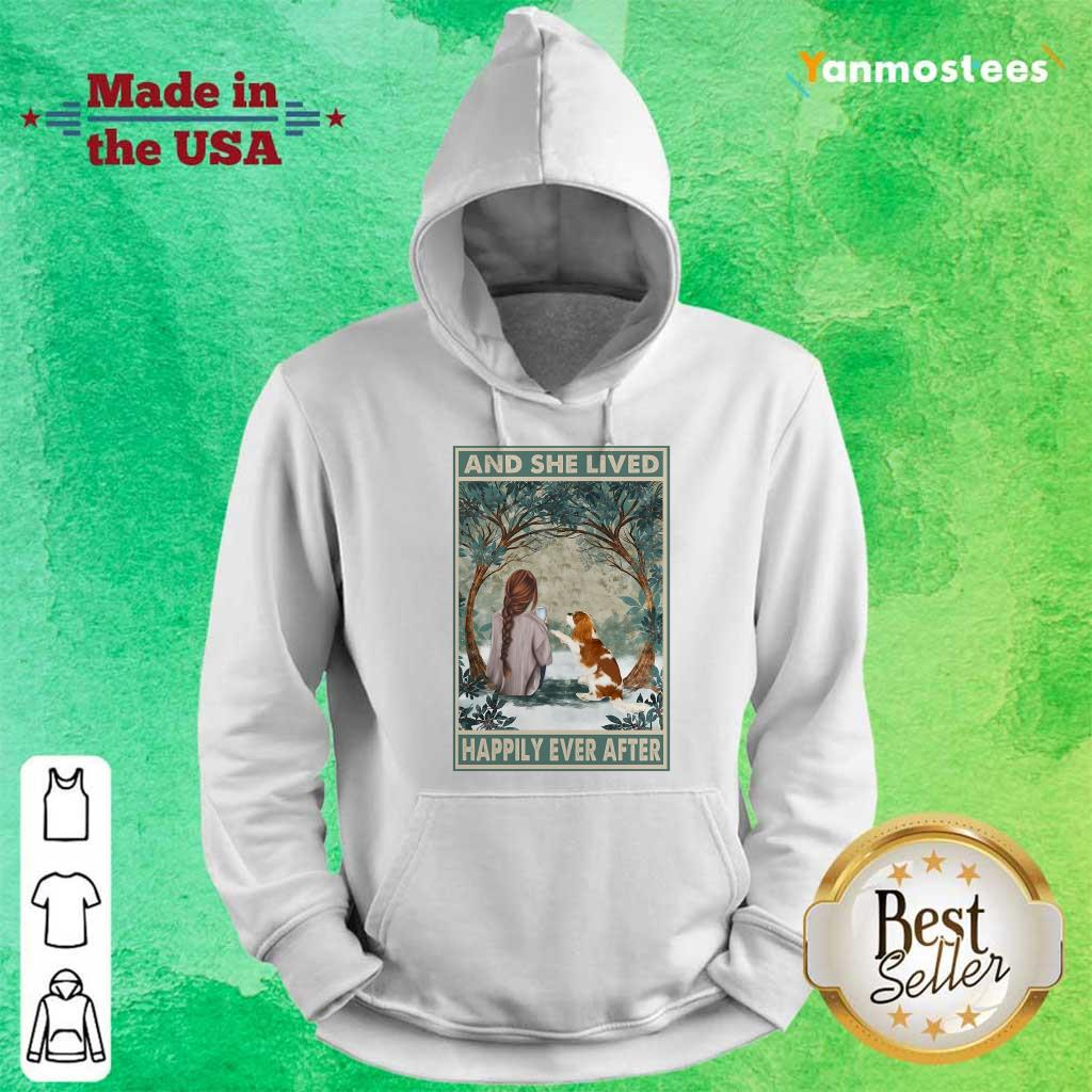 Good Spaniel Dog And She Lived Happily Ever After Poster Hoodie
