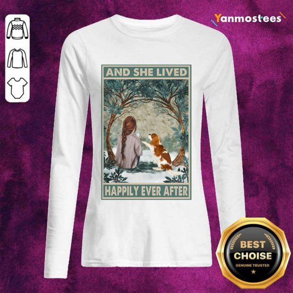 Good Spaniel Dog And She Lived Happily Ever After Poster Long-Sleeved