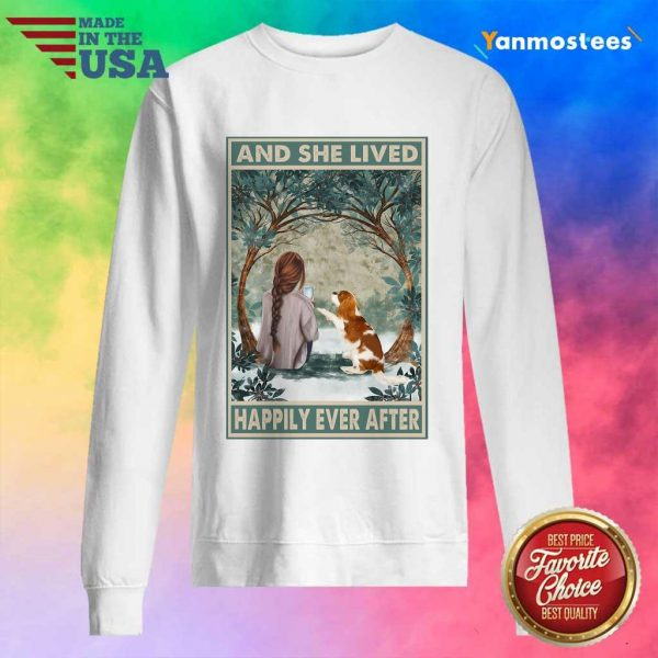Good Spaniel Dog And She Lived Happily Ever After Poster Sweater