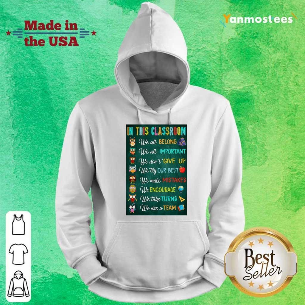 Hot In This Classroom Teacher Vertical Poster Hoodie