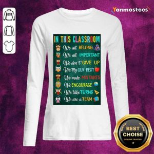 Hot In This Classroom Teacher Vertical Poster Long-Sleeved
