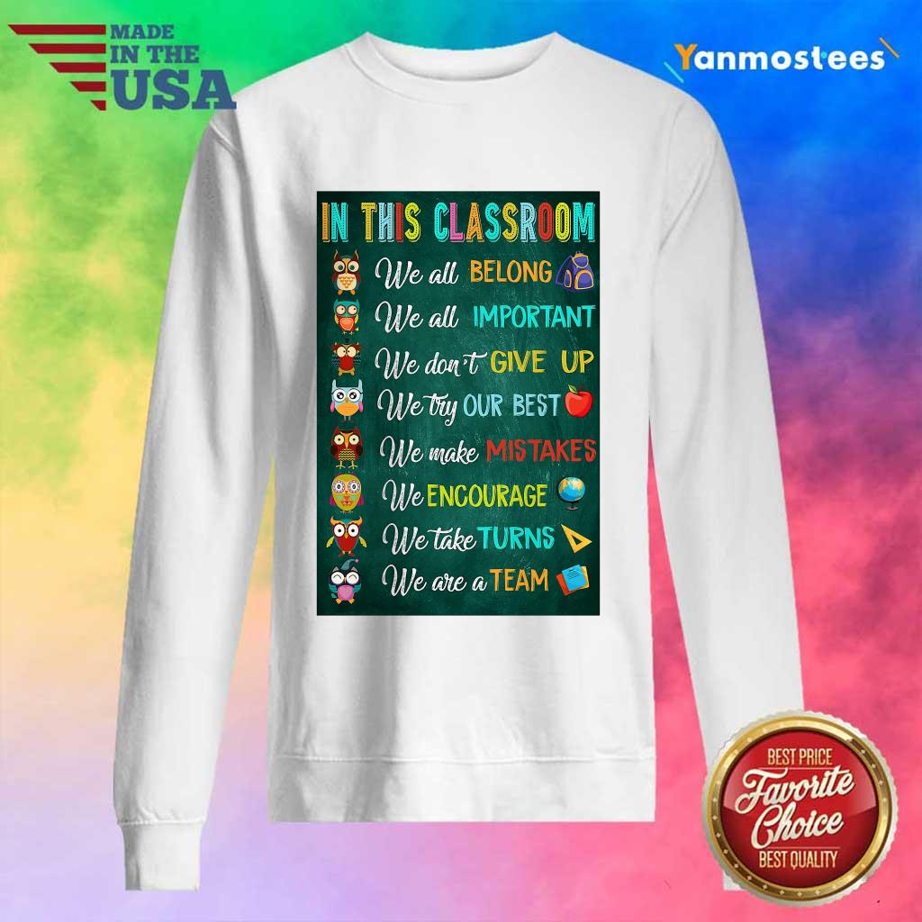 Hot In This Classroom Teacher Vertical Poster Sweater