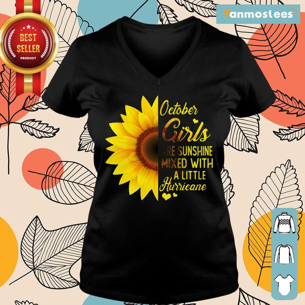 Hot October Girl 2001 Are Sunshine Mixed With A Little Hurricane Ladies Tee