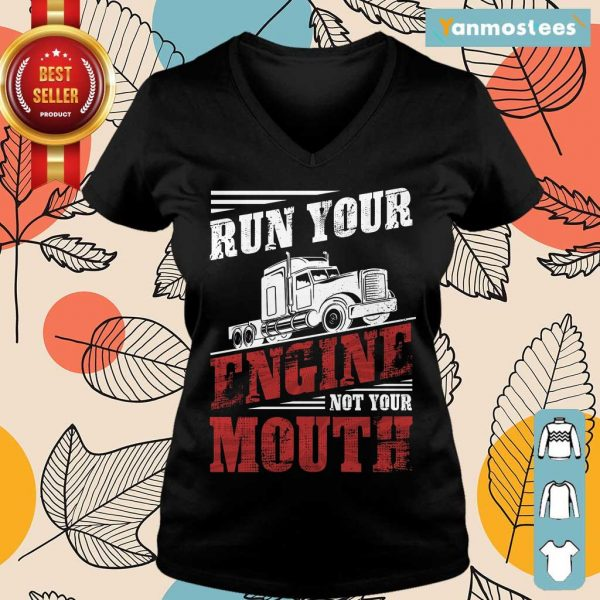 Hot Run Your Engine Not Your Mouth Container Ladies Tee