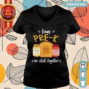 Team We Stick Together Sandwich Pre K Ladies Tee