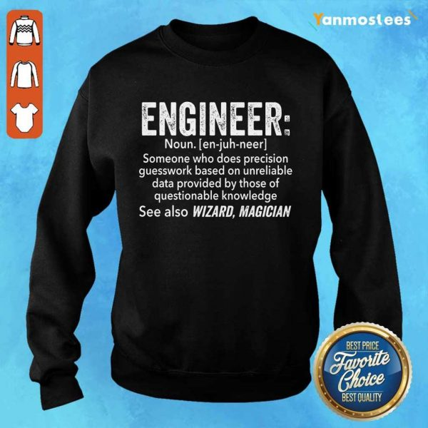 Top Engineer See Also Wizard Magician Sweater