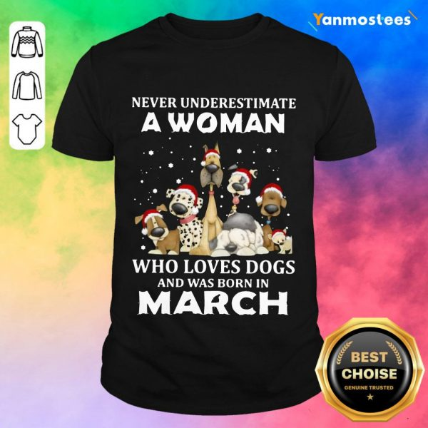 A Woman Who Love Dogs March Shirt
