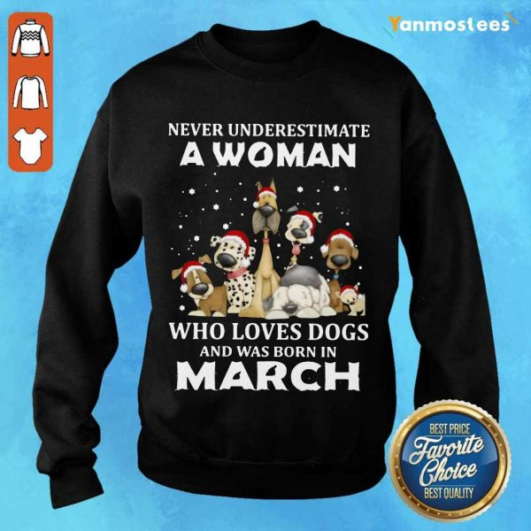 A Woman Who Love Dogs March Sweater