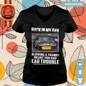 Back In My Day Car Trouble Ladies Tee