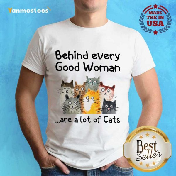 Behind Every Good Women Are A Lot Of Cats Shirt