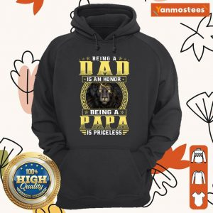 Being A Papa Is Priceless Lion Hoodie